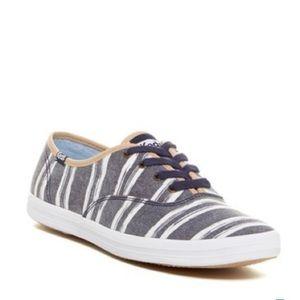 Keds Navy Wash Stripe Sneakers Sz 10
